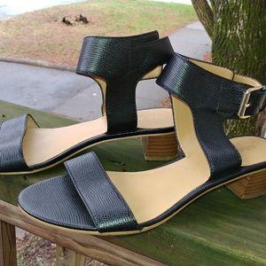Nine West Black Ankle Buckle Sandals Size 7